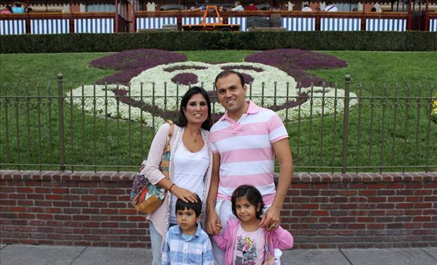Iranian-American Pastor Saeed Abedini with his family