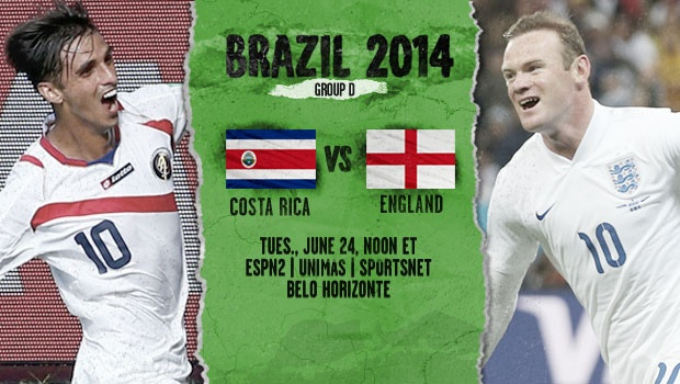 Costa Rica England World Cup