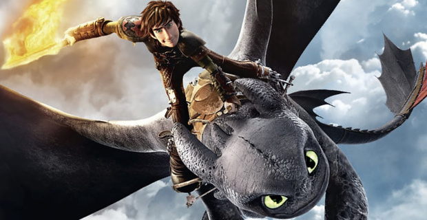 Hiccup and his dragon Toothless in Dreamwork's 'How to Train Your Dragon 2'
