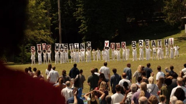 An eerie scene from HBO's new series 'The Leftovers'