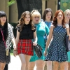 """Pitch Perfect 2"" Stars Anna Kendrick, Rebel Wilson, and Brittany Snow On Set With Fellow Members of the Barden Bellas"