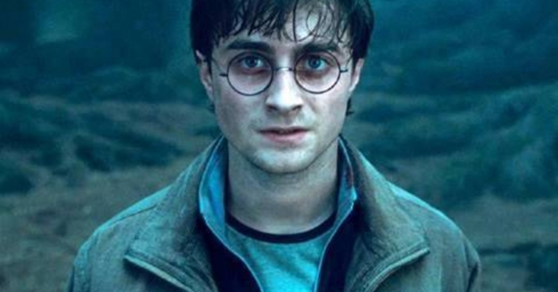 Daniel Radcliffe as Harry Potter, the title character of J.K. Rowling's beloved series about a boy wizard