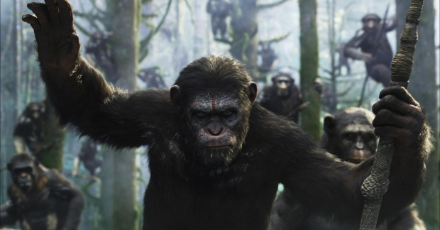 """A still from the """"Dawn of the Planet of the Apes"""" trailer"""