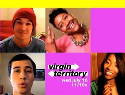 "A few of the stars in an ad for the new MTV reality series ""Virgin Territory"""