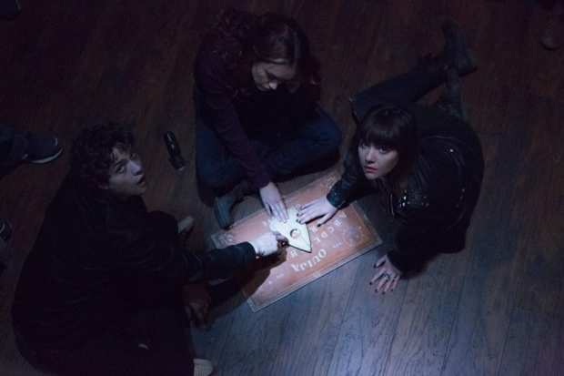 "a still from the horror film ""Ouija,"" which premieres on October 24"