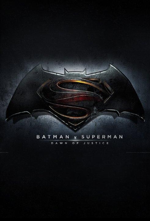 "the movie poster for ""Batman v. Superman: Dawn of Justice"""
