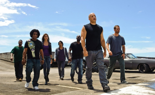 """a still from the new movie """"The Fast and the Furious 7"""""""