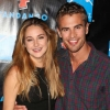 "Shailene Woodley with costar Theo James, her onscreen boyfriend in ""Divergent"""