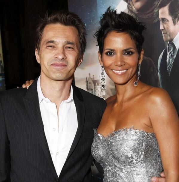 Halle Berry with her current husband, Olivier Martinez