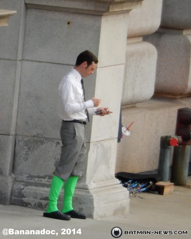 Scott McNairy on the set of Batman V Superman: Dawn of Justice