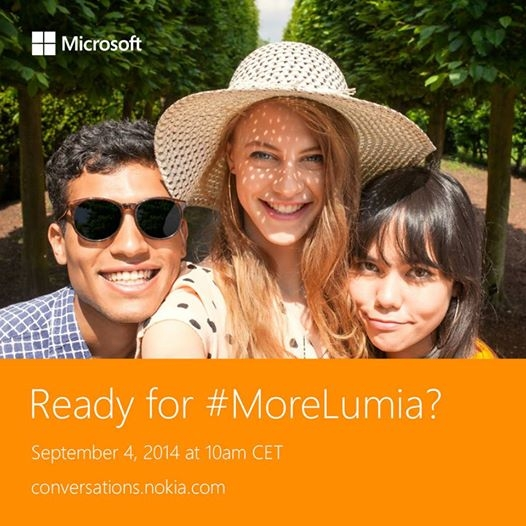 Announcement teasing the Lumia 730