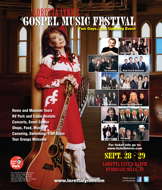 (Photo : The Judy Nelon Group)Loretta Lynn's Gospel Music Festival 2013