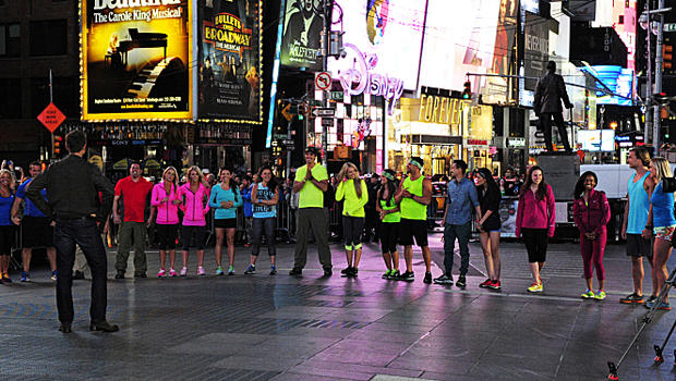 """""""The Amazing Race"""" kicks off its 25th season in New York City's Times Square."""