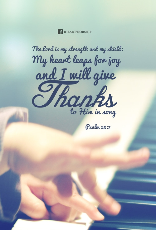 I will give thanks to Him in song