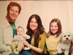 Point of Grace's Leigh Cappillino with husband Dana and children Darby & Andy